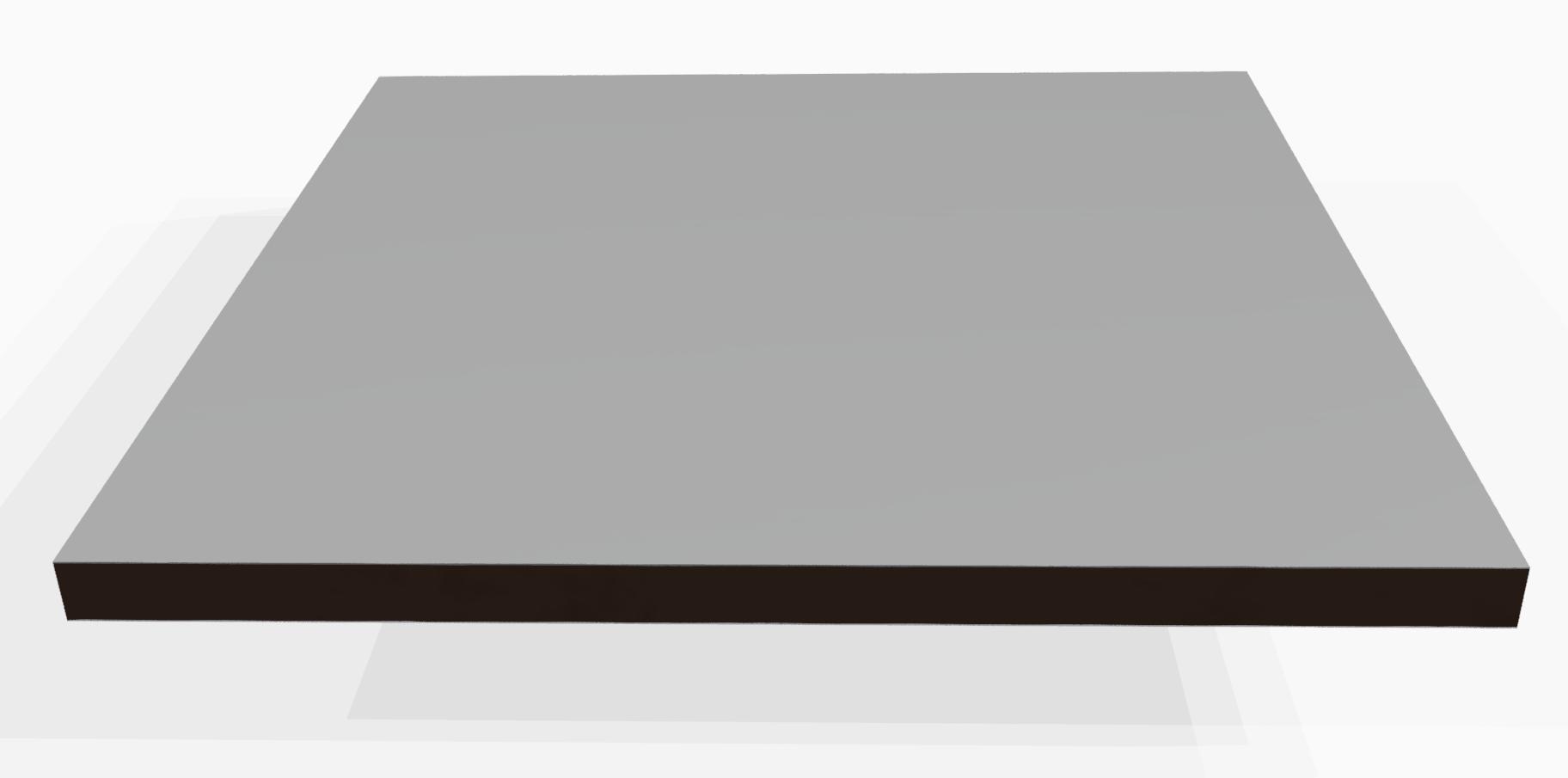 Vollkunststoff 10 mm ähnlich RAL 7035, grau
