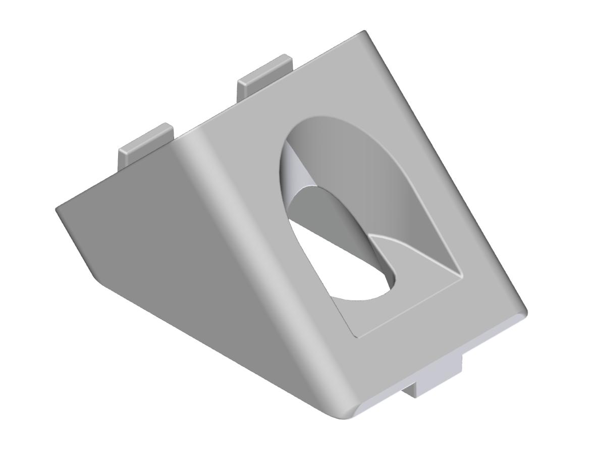 Winkelverbinder 20x20 45°, natur-5