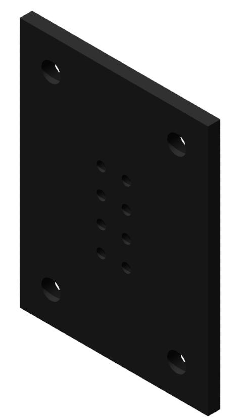 Portalplatte 400x300 80x160, brüniert-8