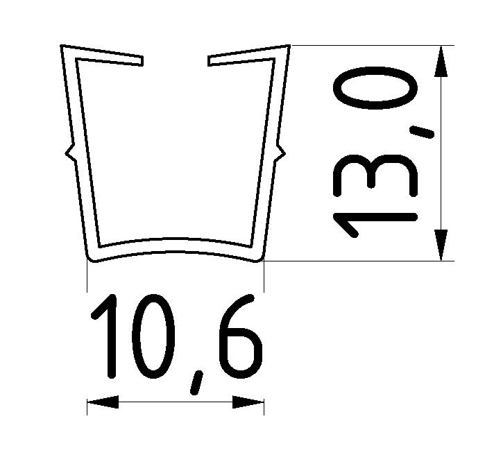 Abdeck- und Einfassprofil 10 Klemmprofil 32x18-8 (Stück) - 8
