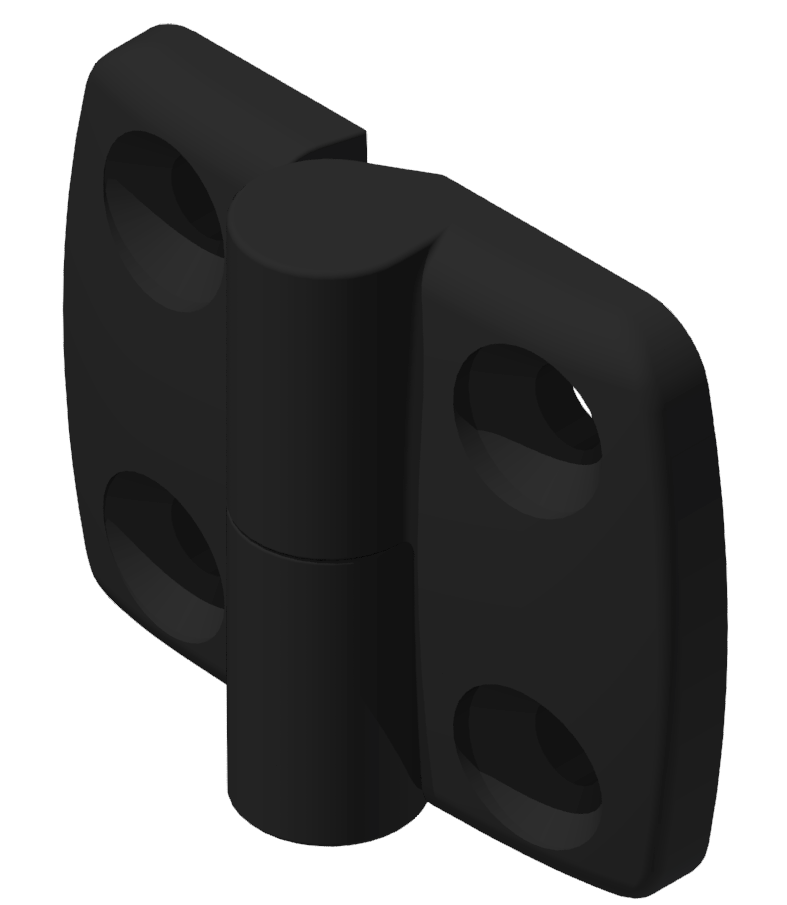 Kombischarnier links 30x30 PA, schwarz-8