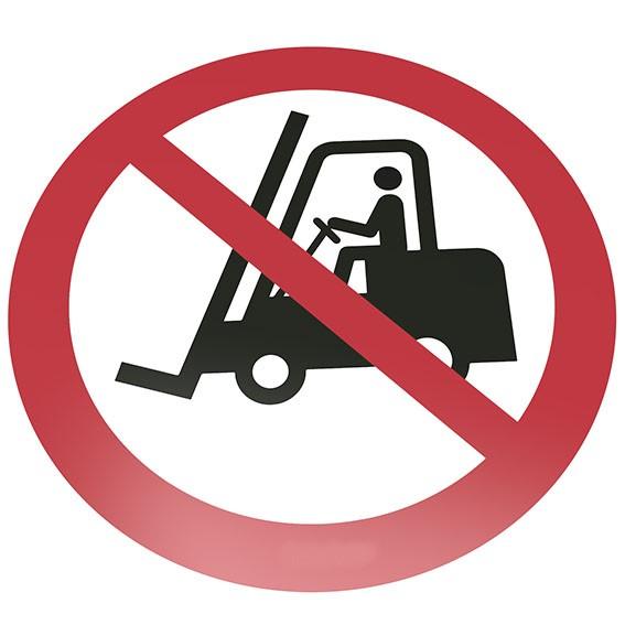 Für Flurförderzeuge verboten Bodenschild
