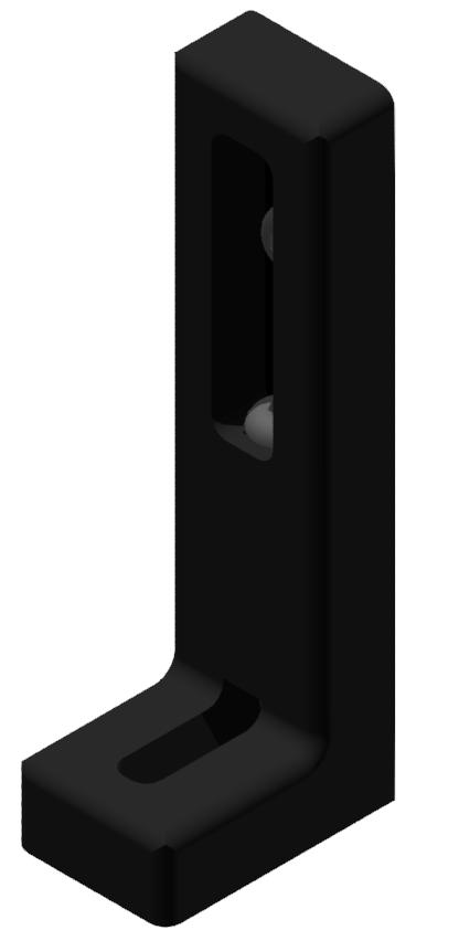 Winkelstellfuß mit Verstellung, schwarz-8