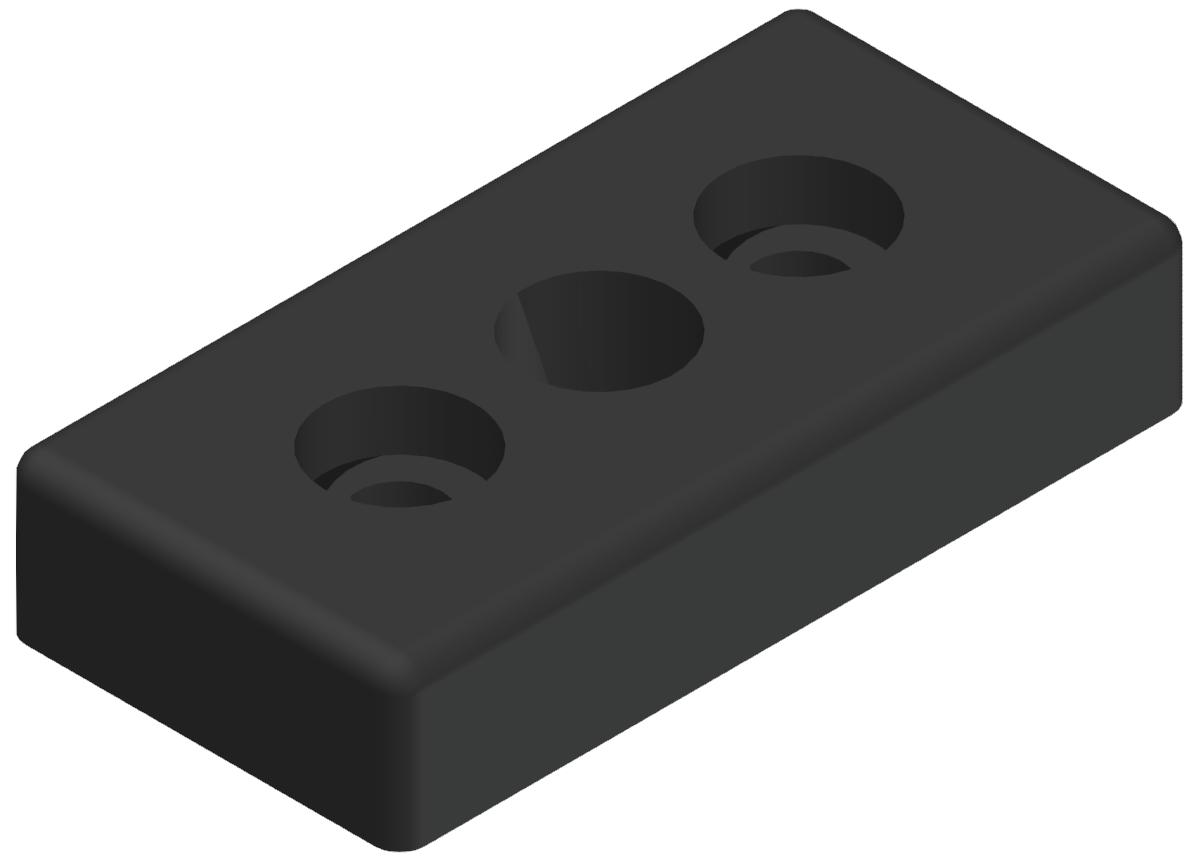 """Pneumatik-Anschlussplatte 40x80 R3/8"""", schwarz-8"""
