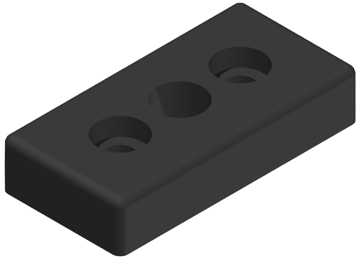 Pneumatik-Anschlussplatte 8 80x40 G3/8, schwarz