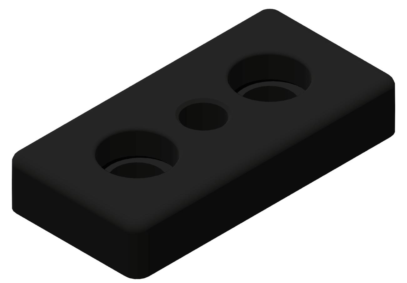 Fußplatte 45x90 M14, schwarz-10