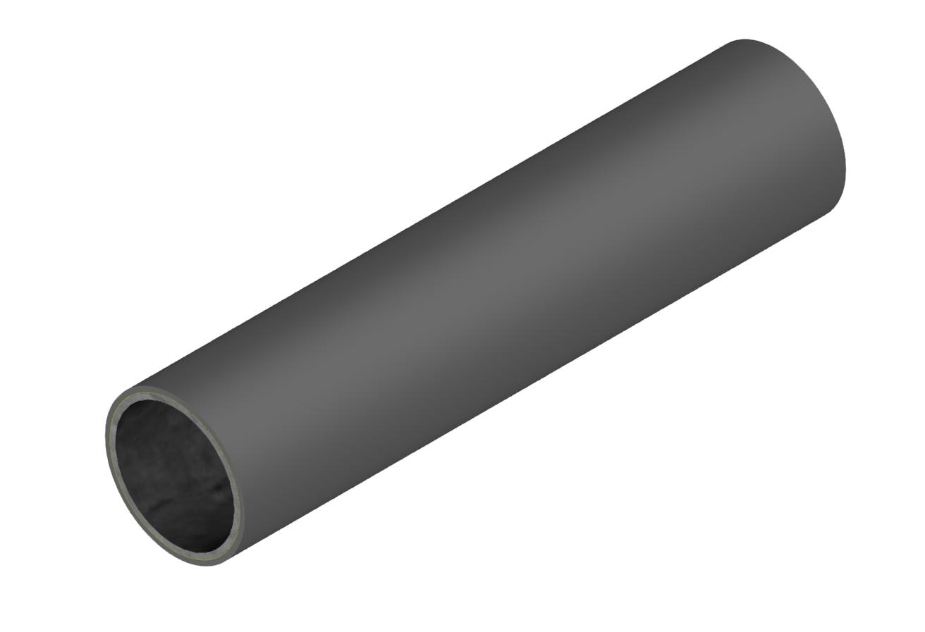 M-Rohr 1 mm dunkelgrau