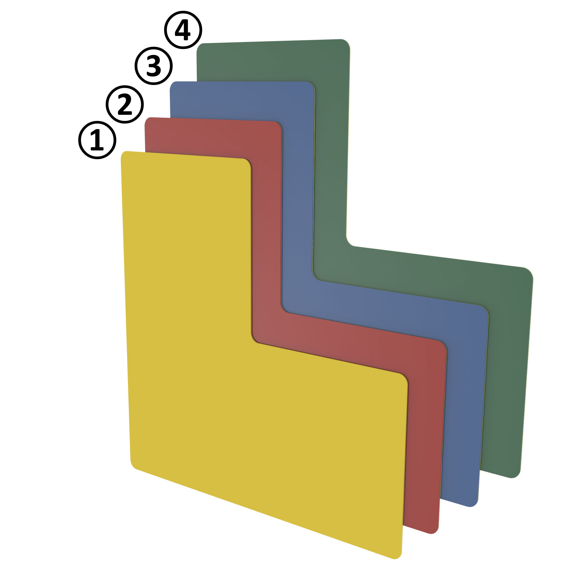 Bodenmarkierung L-Form 75 - blau