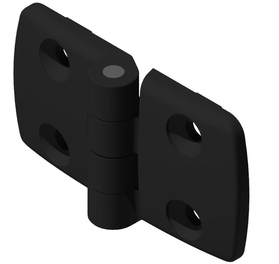 Kombischarnier fest 45x45 PA, schwarz-10