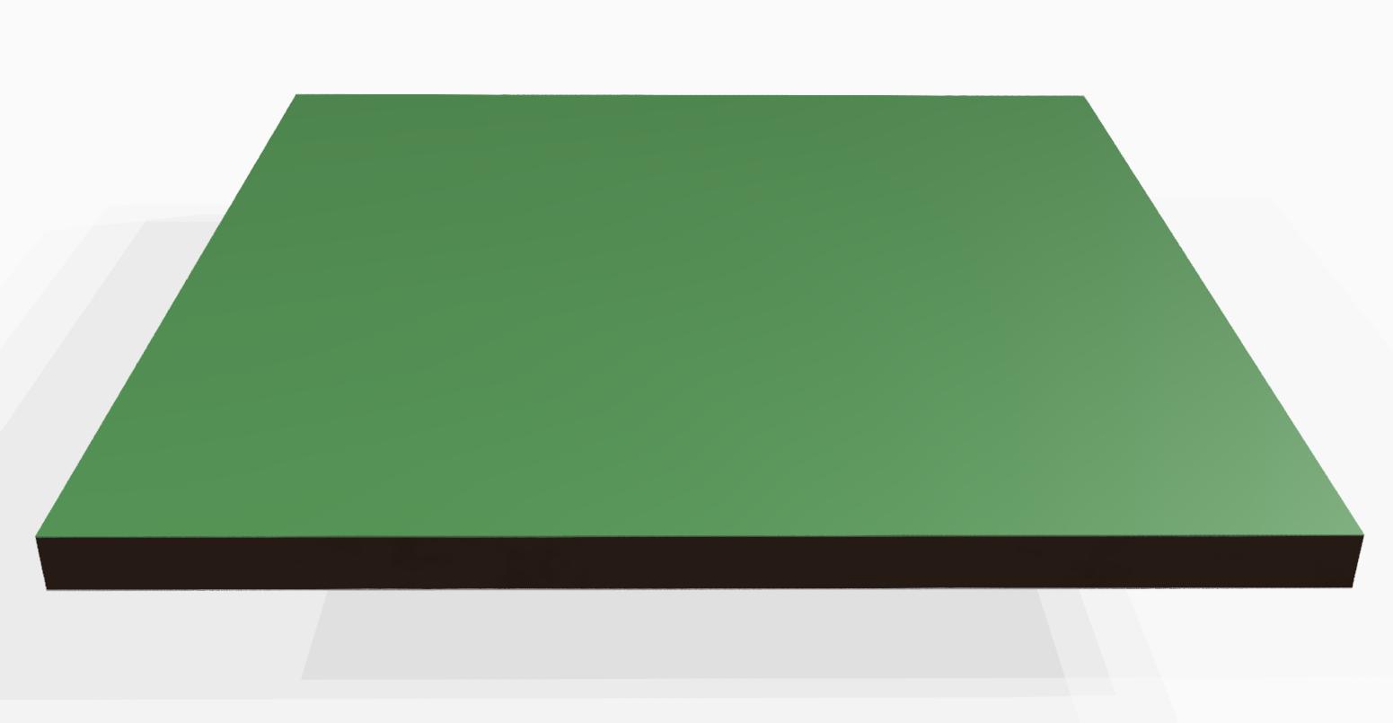 Vollkunststoff 10 mm ähnlich RAL 6000, grün