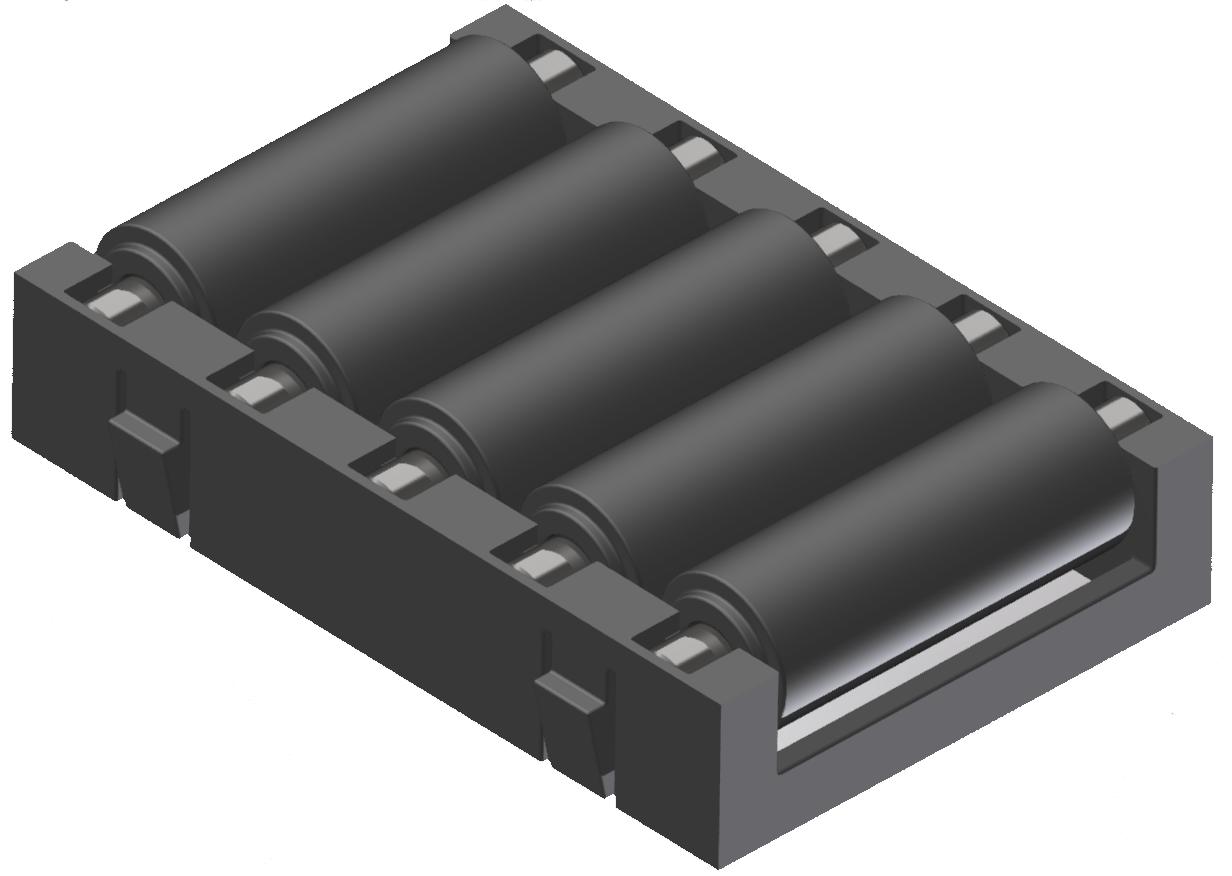 Rollenelement R9 ESD, schwarz-schwarz - Alu