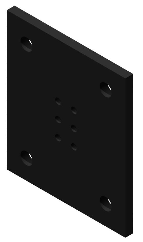 Portalplatte 350x300 80x120, brüniert-8