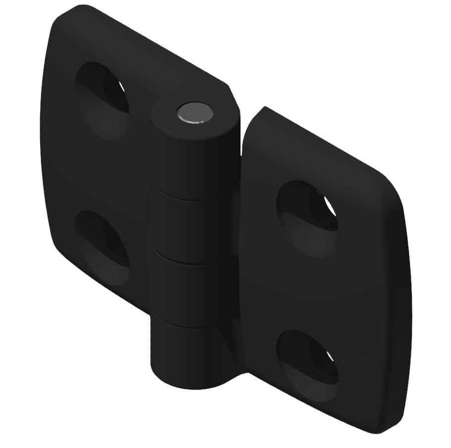 Kombischarnier fest 40x50 PA, schwarz-10