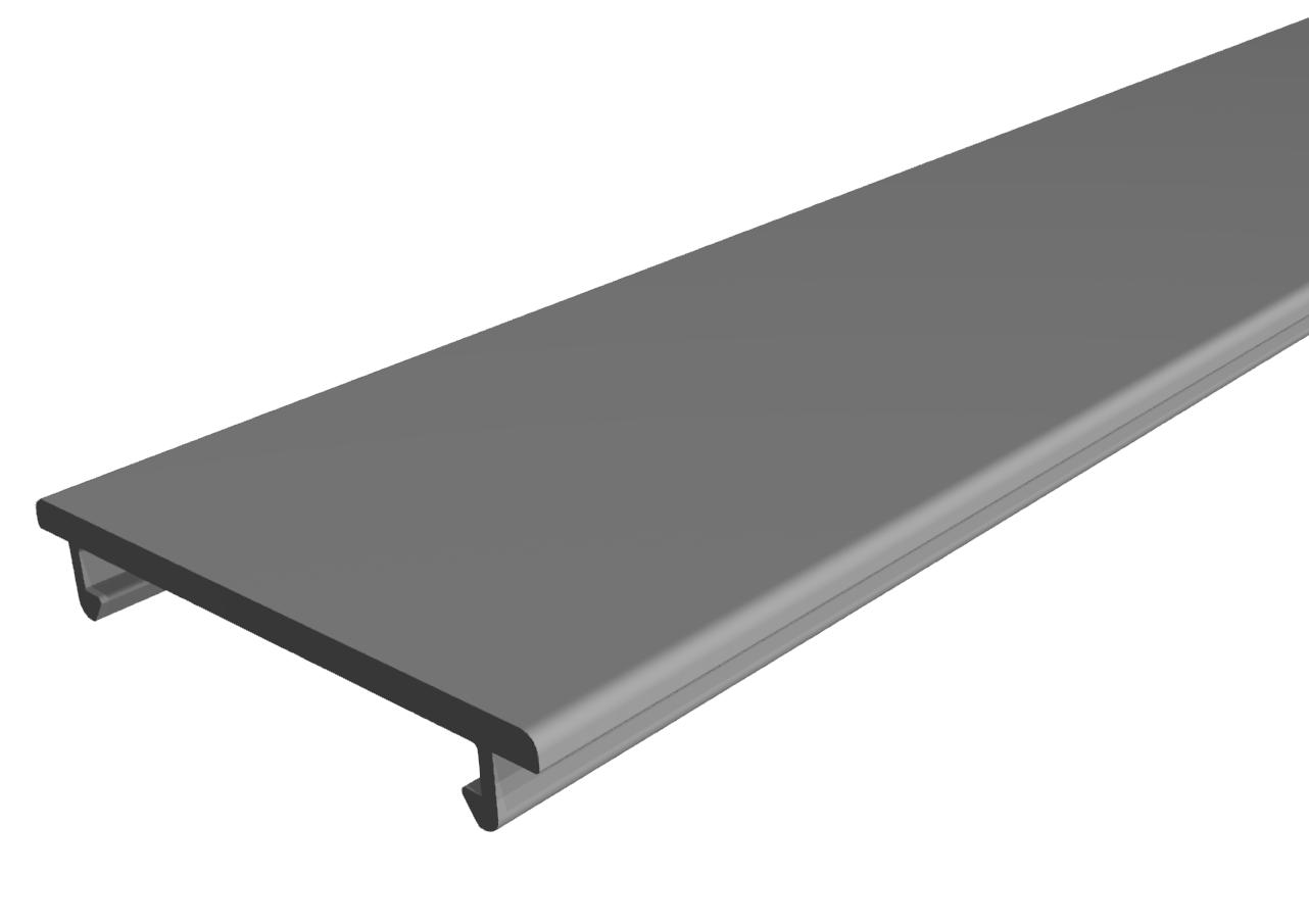 Deckelprofil D40 K, grau
