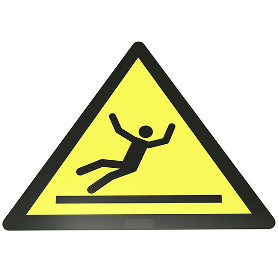Warnung vor Rutschgefahr Bodenschild