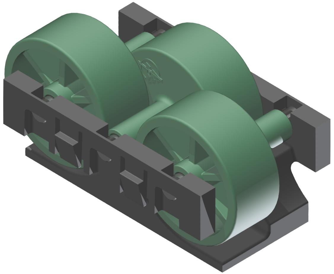 Rollenelement H26 , grün-schwarz - Alu