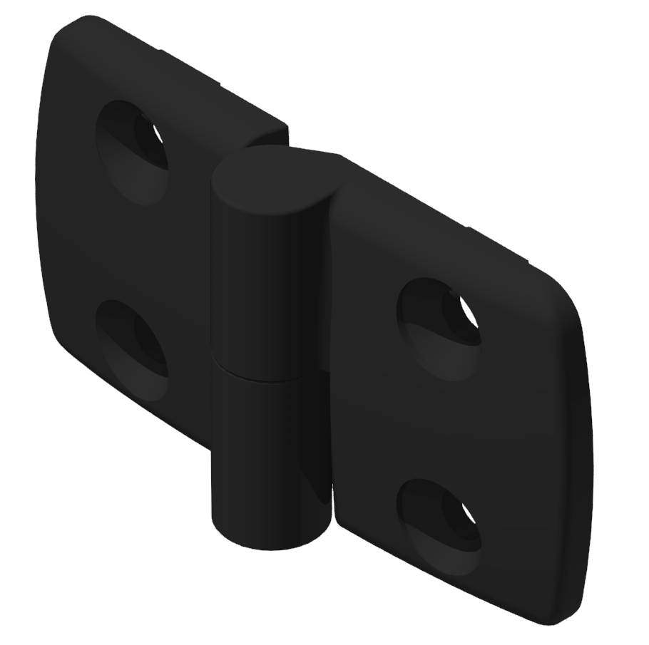 Kombischarnier links 45x45 PA, schwarz -10