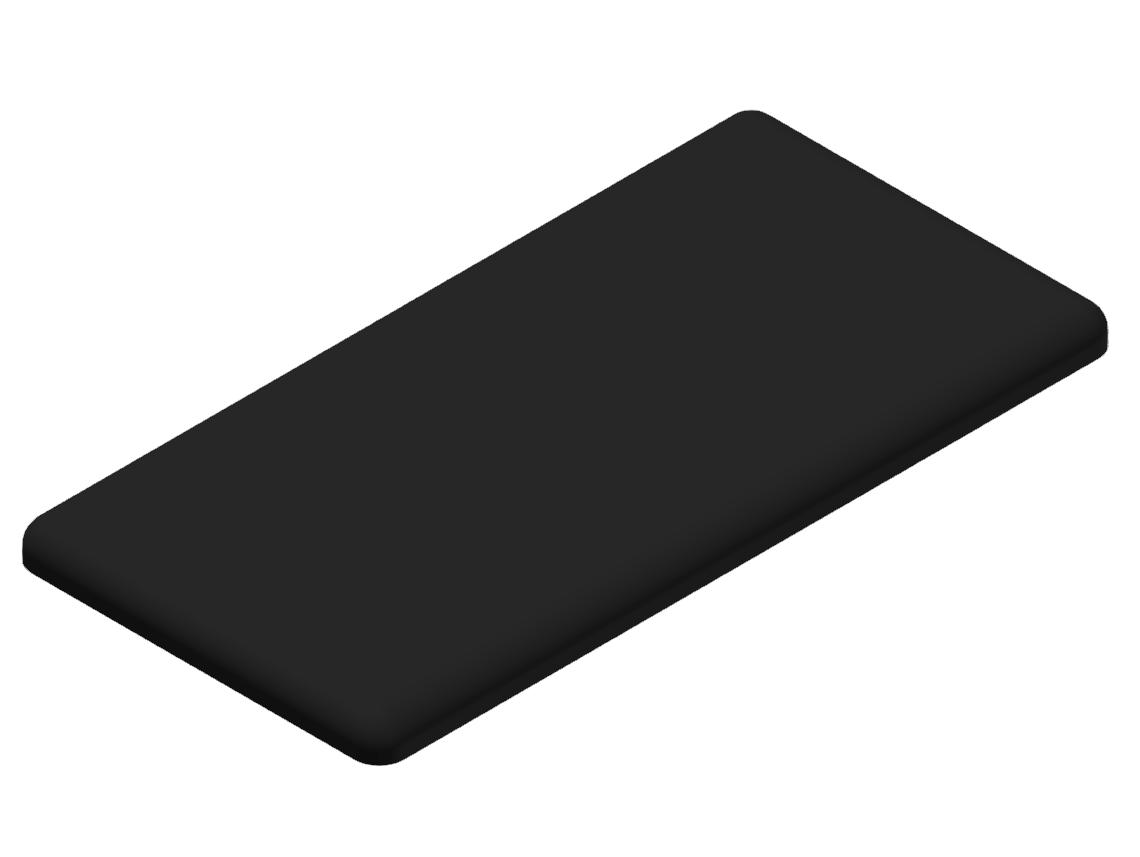 Abdeckkappe 30x60, schwarz-8