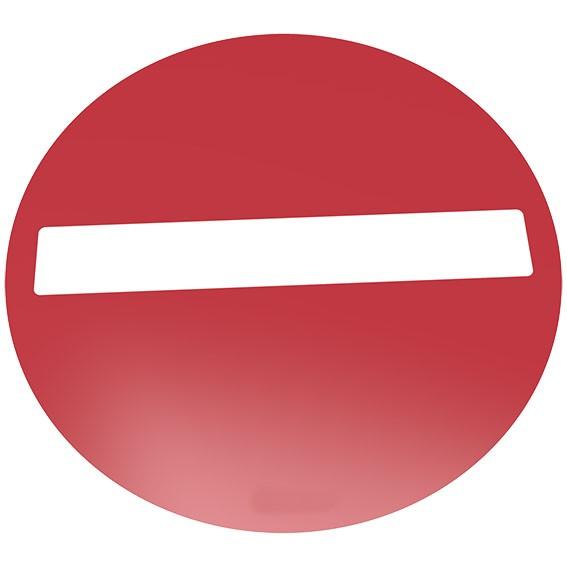 Verbot der Einfahrt Bodenschild