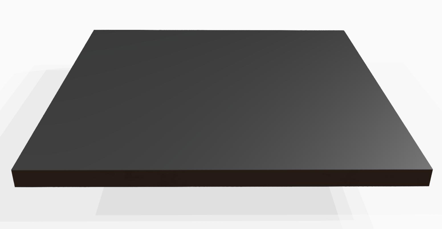 Vollkunststoff 10 mm ähnlich RAL 9017, schwarz