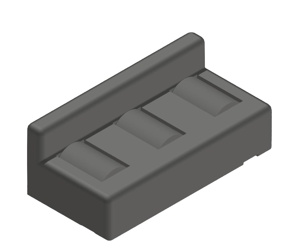 Rollenelement 80 Turbo mit Bordkante, schwarz - 10