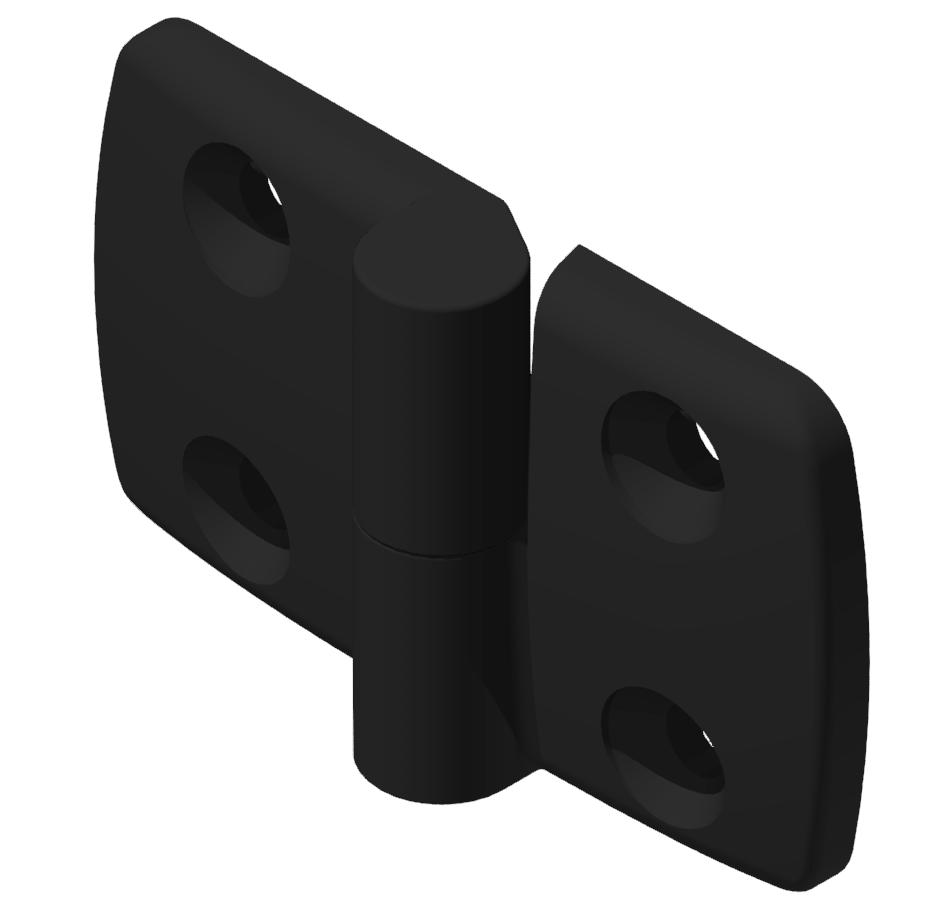 Kombischarnier rechts 40x45 PA, schwarz -10