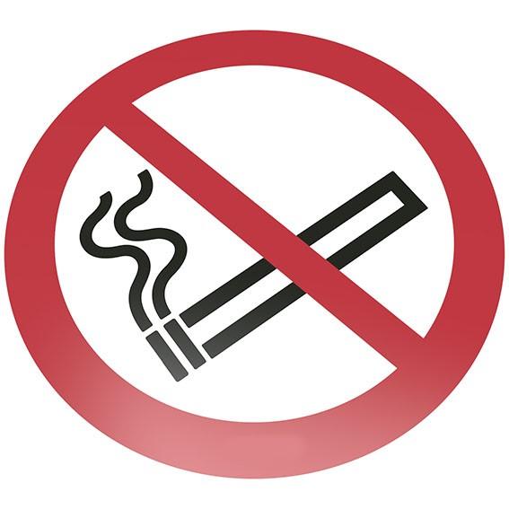 Rauchen verboten Bodenschild