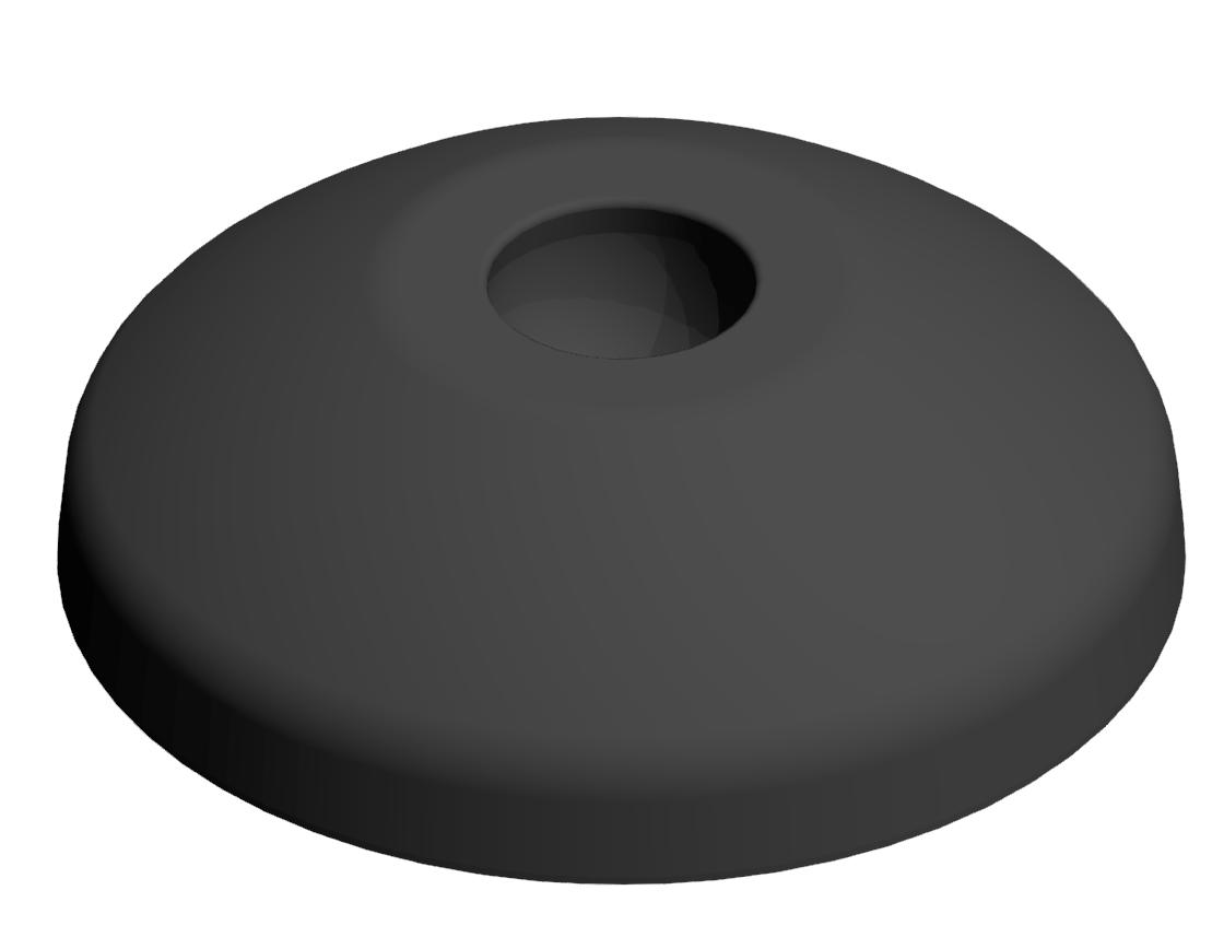 Teller A D60 PA, schwarz