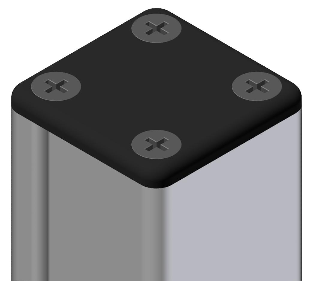 Abdeckkappe Kabelkanal 40x40, schwarz-8
