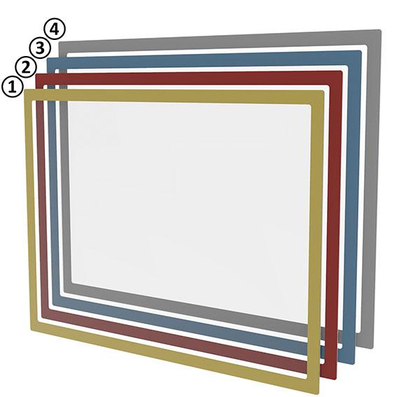 Magnetisches Dokumentenfenster DIN A3 - blau