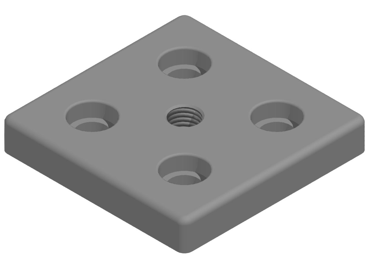 Fußplatte 100x100 M16 - 10