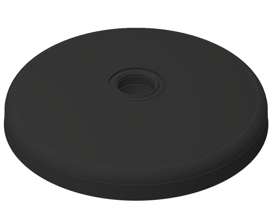 Teller A D100 ZN, schwarz