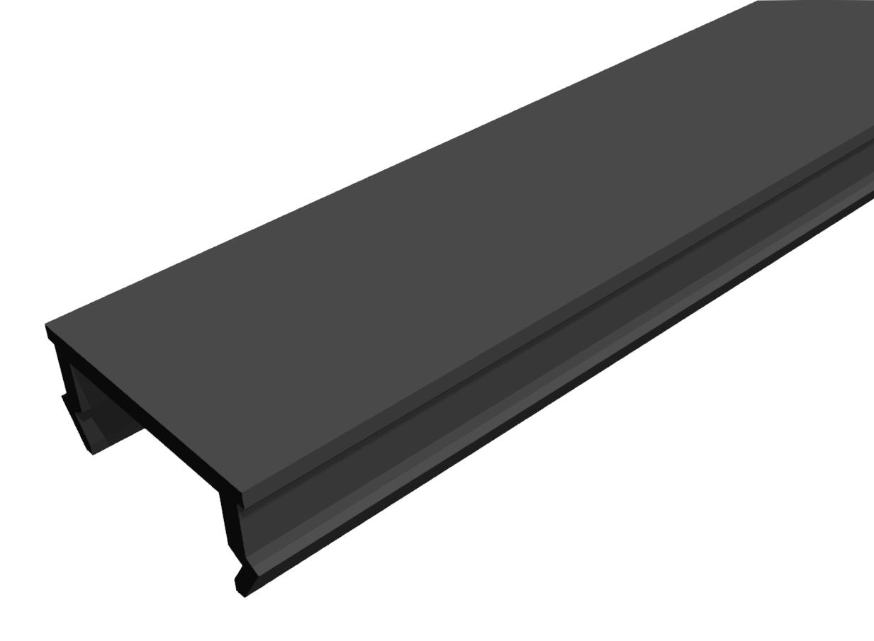 Abdeckprofil PP schwarz-8