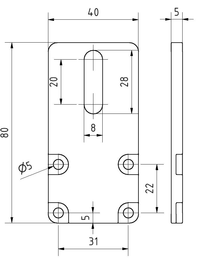 Abschlussplatte 40x80 Set, verzinkt - Alu