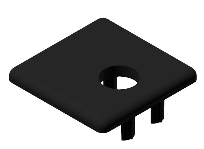 Abdeckkappe 30x30WG30, schwarz-8