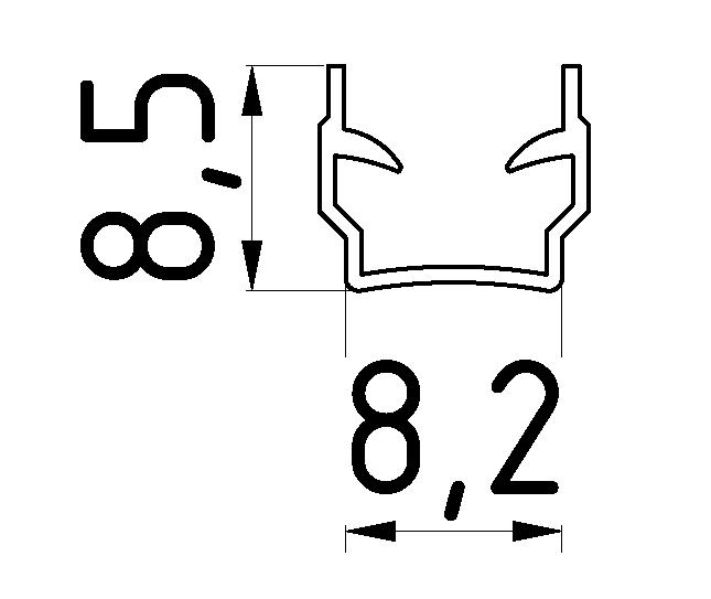 Abdeck- und Einfassprofil 2 mm, schwarz-8