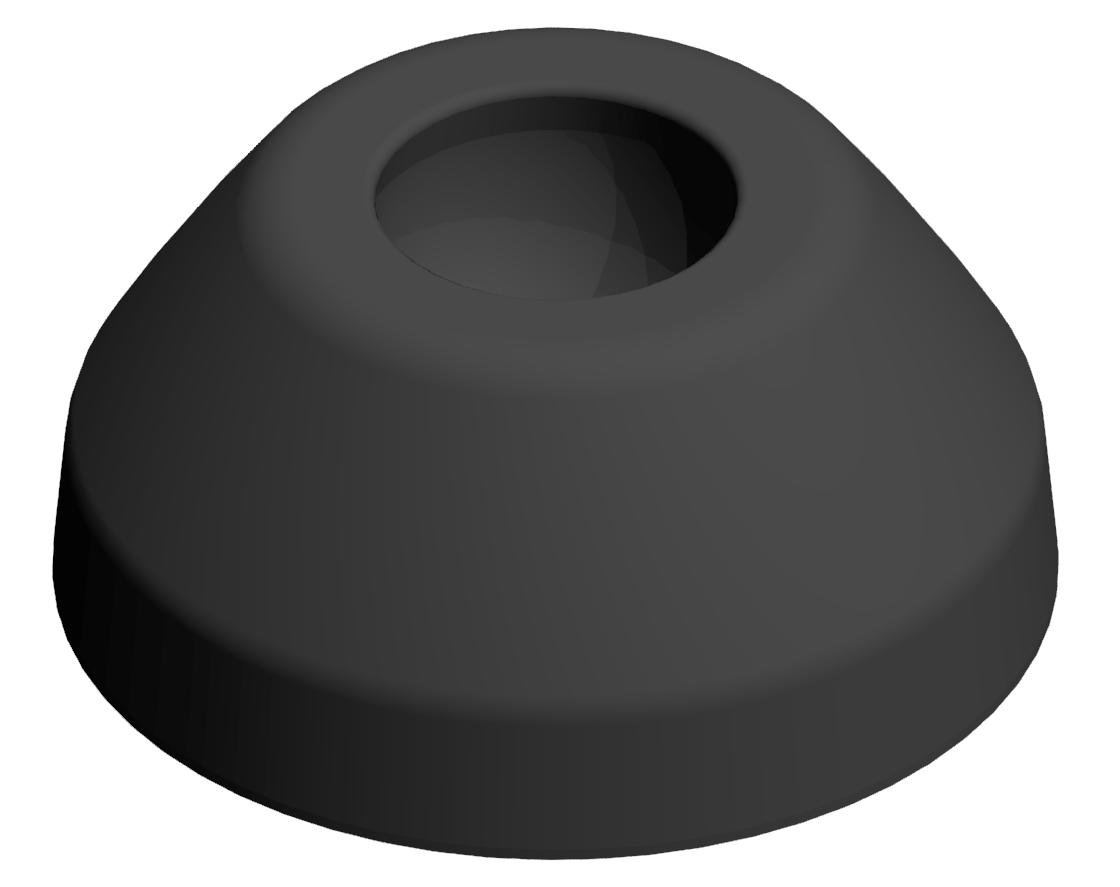 Teller A D40 PA, schwarz