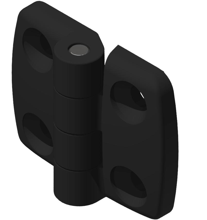 Kombischarnier fest 30x30 PA, schwarz-8