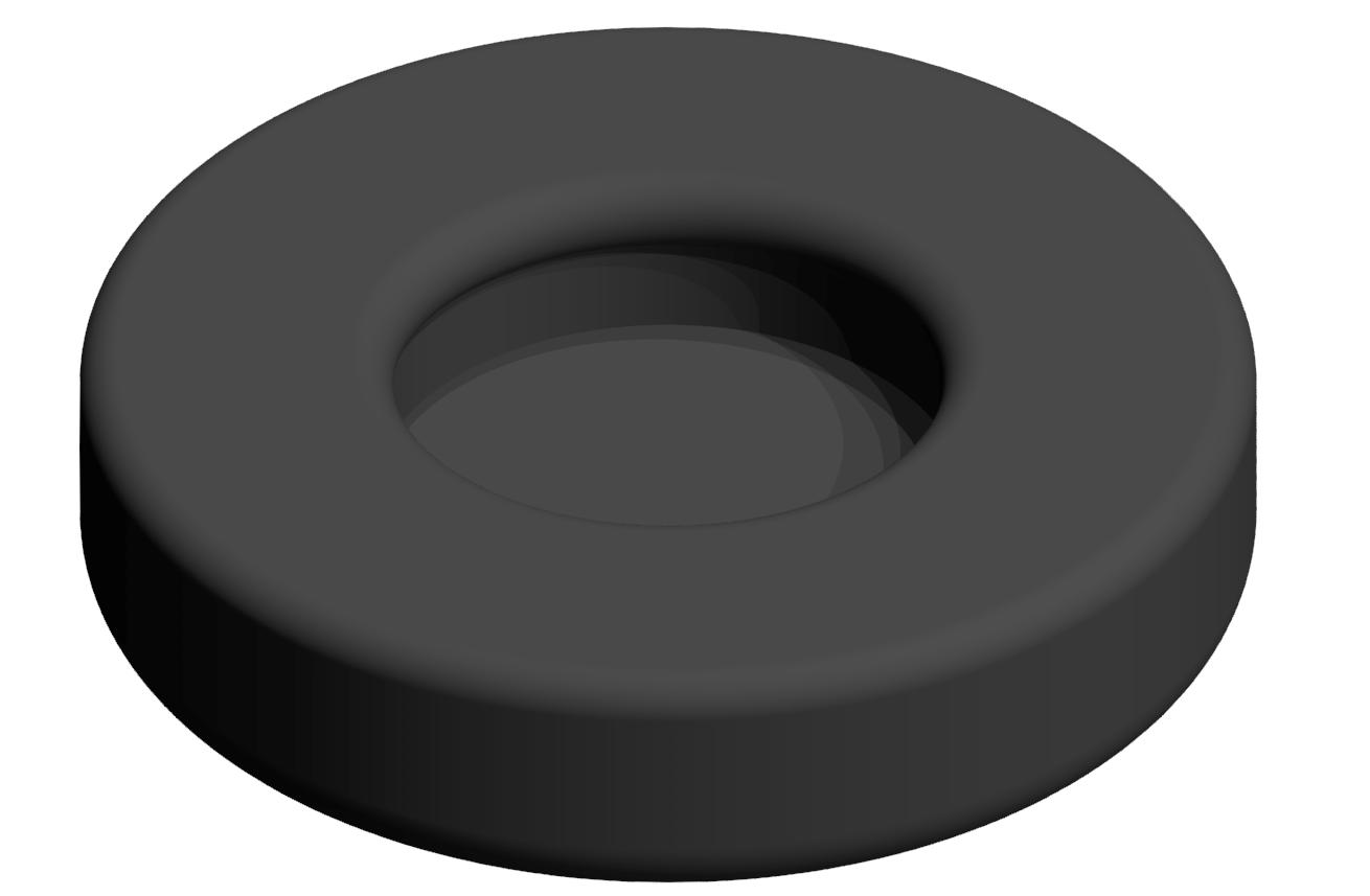 Gummieinsatz A-D D40, schwarz