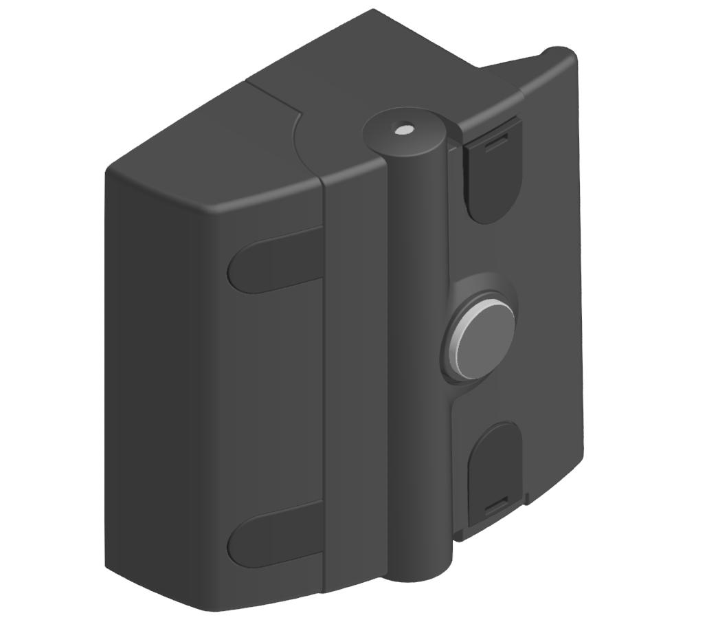 Fallenverschluss B ohne, schwarz-8
