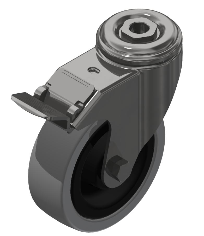 Lenkrolle D100 mit Bremse ESD verzinkt-8