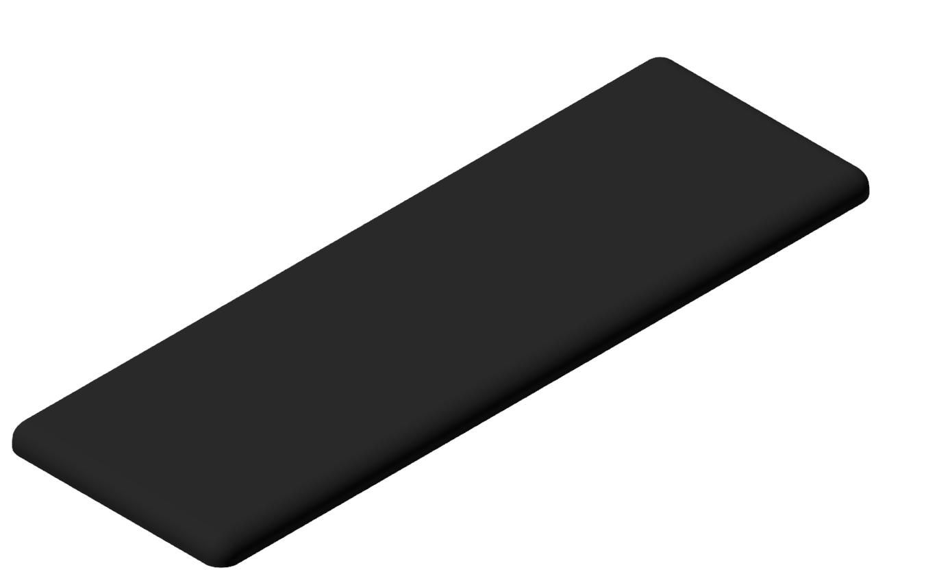 Abdeckkappe 40x120, schwarz-10