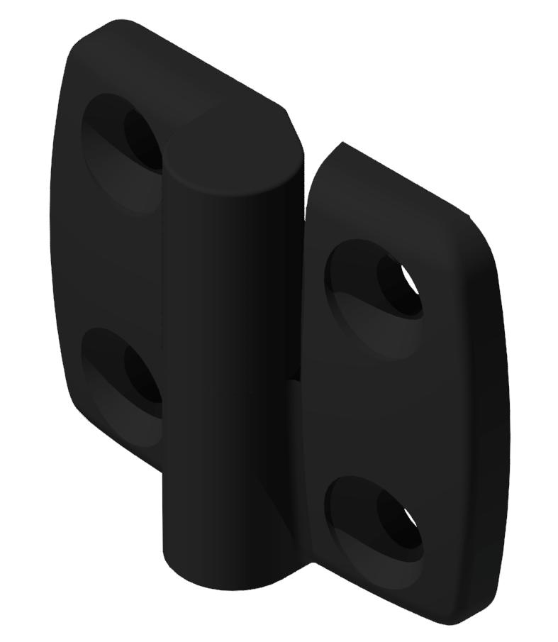 Kombischarnier rechts 30x30 PA, schwarz-8