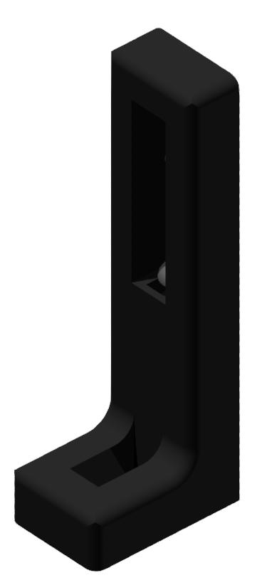 Winkelstellfuß mit Verstellung, schwarz-6