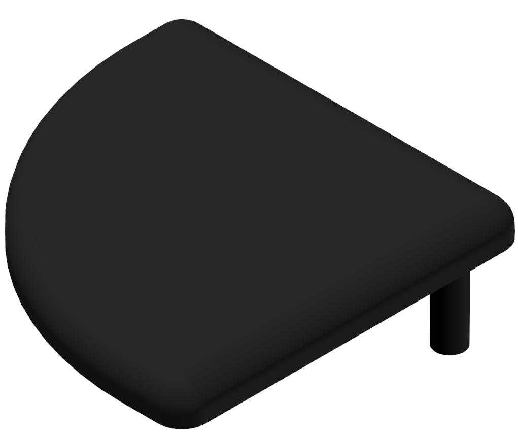 Abdeckkappe 30x30 R, schwarz-8