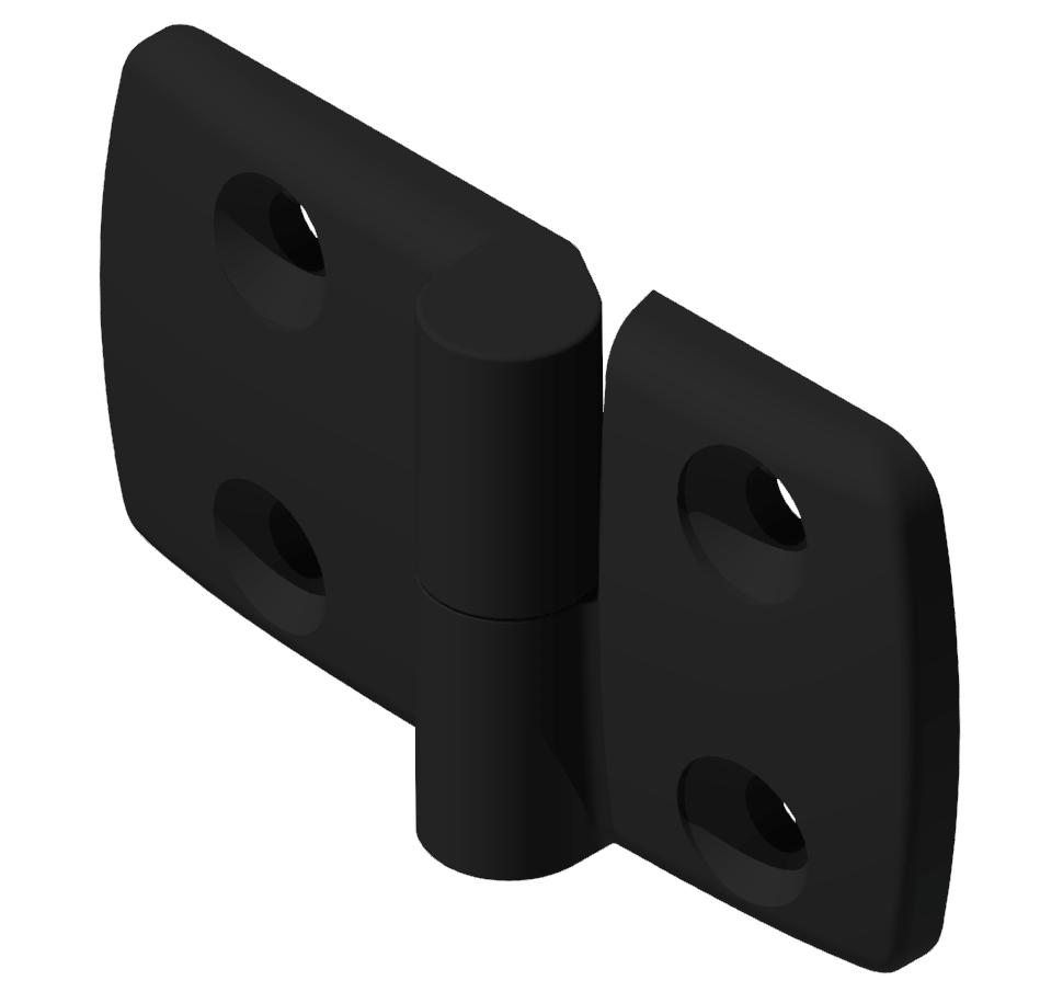 Kombischarnier rechts 40x50 PA, schwarz -10