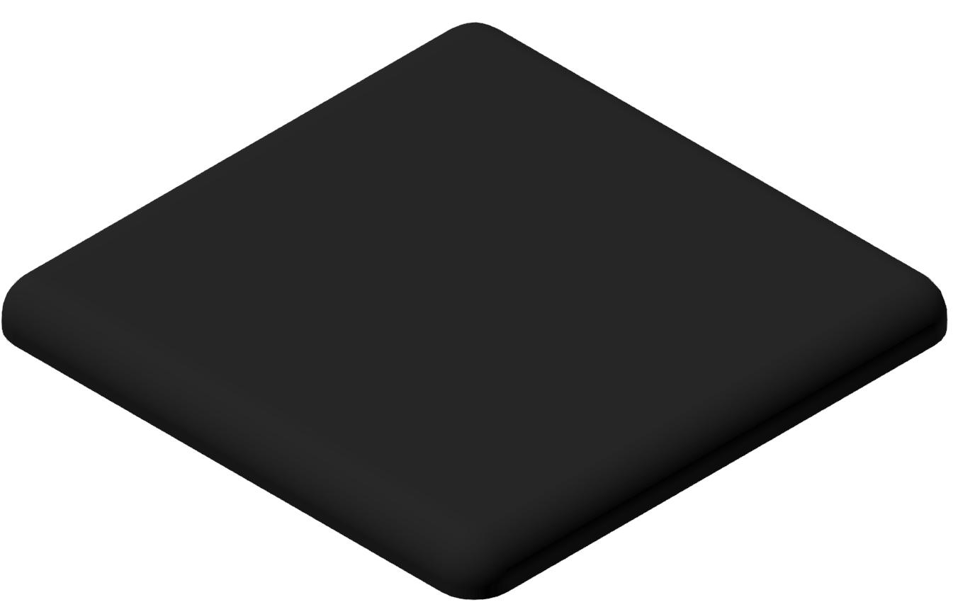 Abdeckkappe 45x45, schwarz-10