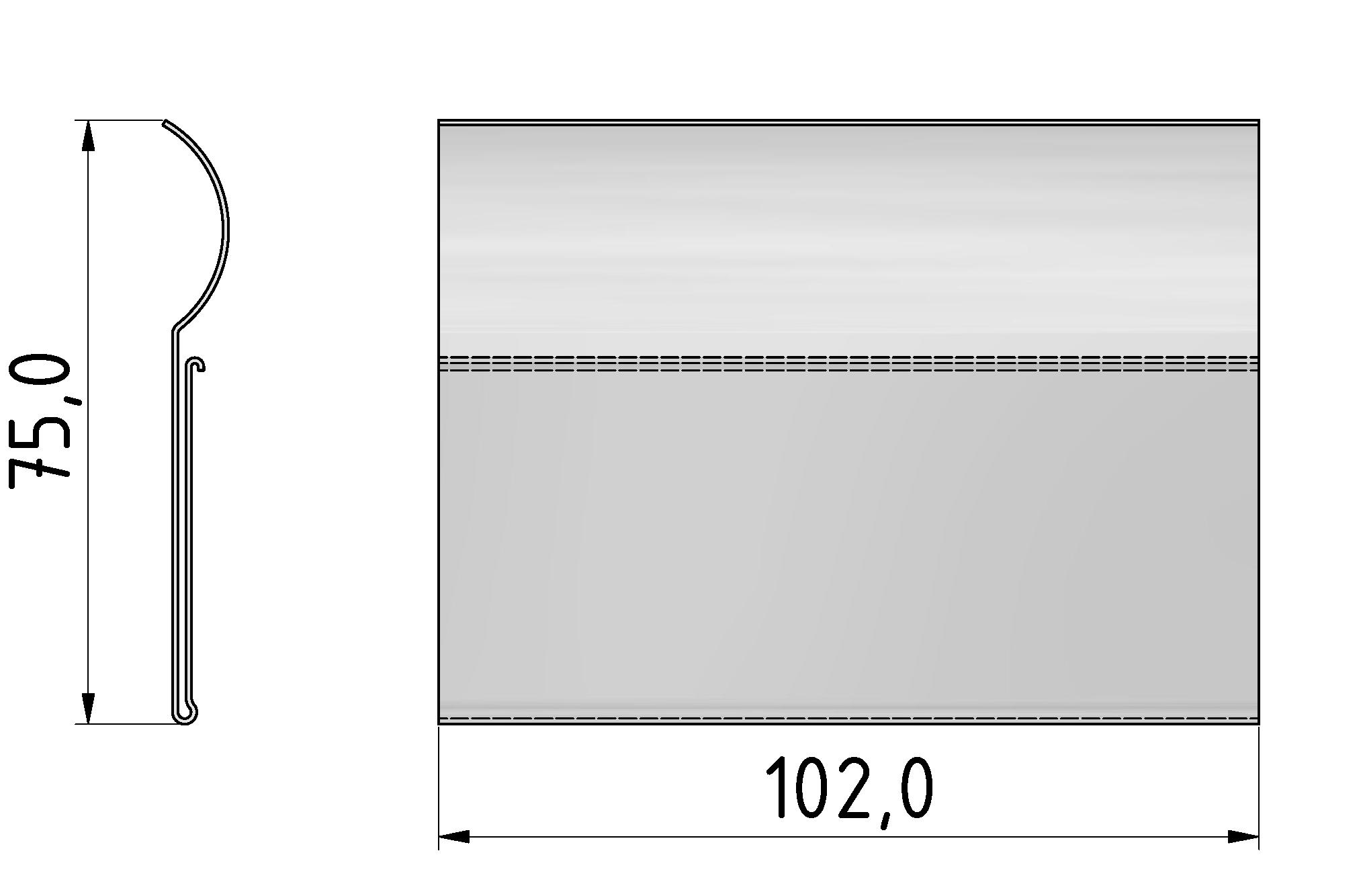 Beschriftungselement D30-100 flex, transparent