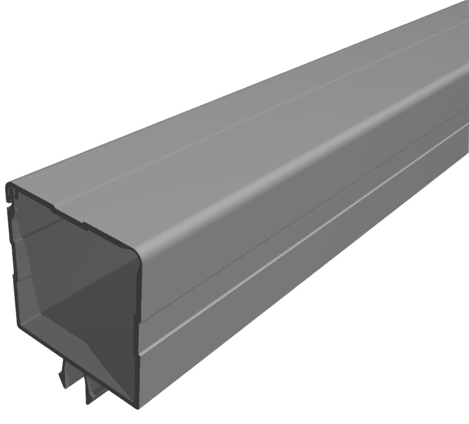 Kabelkanal 45x45 PVC grau