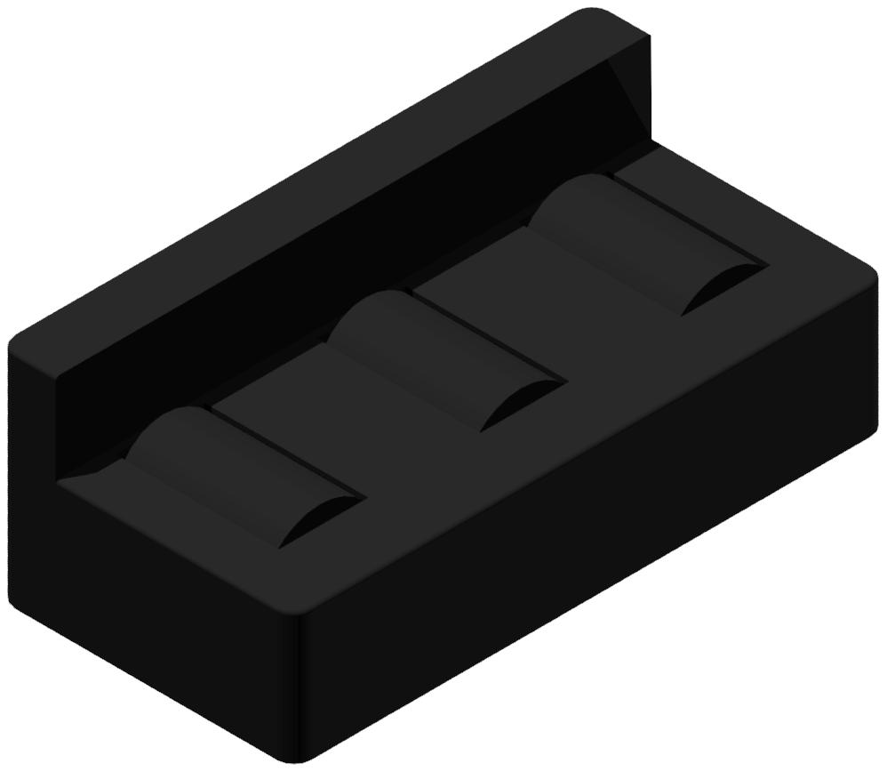 Rollenelement-Klick 8 80 mit Bordkante